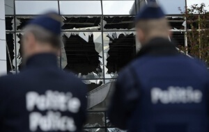 L'aéroport de Zaventem, en Belgique, après les attentats du 22 mars (Photo : SIPA/00748199_000073)
