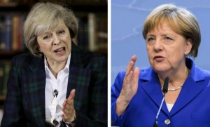 Theresa May et Angela Merkel doivent se rencontrer à Berlin ce mercredi 20 juillet (Photo : SIPA.AP21921548_000001)