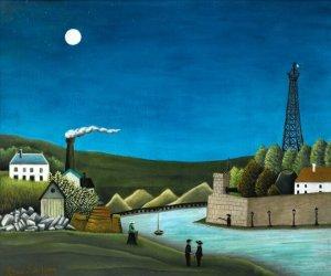 """""""La Seine à Suresnes"""" par Henri Rousseau (Wikimedia commons - cc)"""