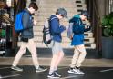 De jeunes joueurs australiens de Pokémon Go (Photo : SIPA.00765473_000003)