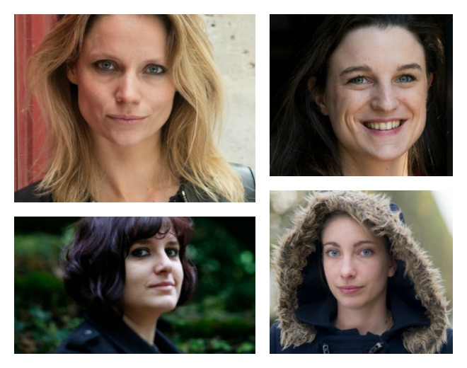 De gauche à droite et de haut en bas : Thérèse Hargot, Eugénie Bastié, Peggy Sastre et Iseul Turan (Photos : Hannah Assouline et Natacha Nikouline)