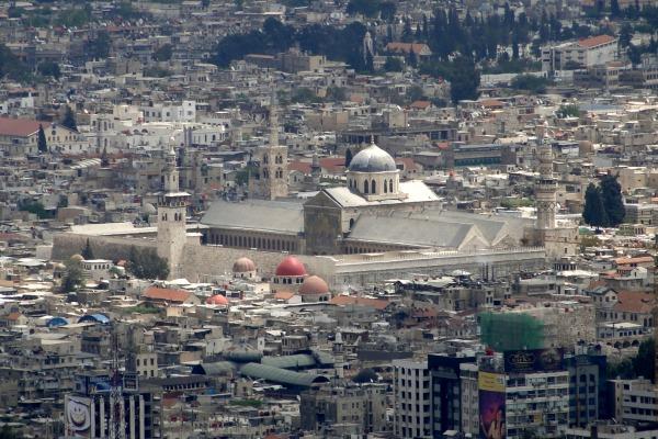 Mosquée omeyyade, Damas. Wikipedia.