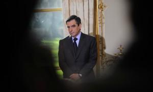 François Fillon à Matignon, janvier 2012. SIPA. 00630142_000010