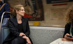 NKM dans le métro, mars 2014. SIPA. 00665143_000014