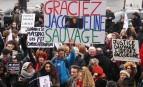 Manifestation de soutien à Jacqueline Sauvage à Paris, janvier 2016. SIPA. 00739153_000002