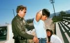 Arrestation d'un clandestin mexicain, octobre 1994. SIPA. 00253669_000001