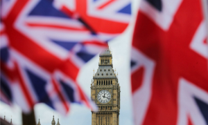 Le drapeau britannique flotte sur Londres à la veille du Brexit, juin 2016. SIPA. SIPAUSA30151537_000002