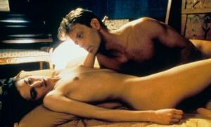 "Rocco Siffredi et Caroline Trousselard dans ""Romance"", janvier 1999. SIPA. REX43045523_000001"