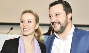 Marion Le Pen et Matteo Salvini. Sipa. Numéro de reportage  : 00747258_000009.