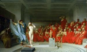 """Phryné devant l'Aréopage"" par Jean-Léon Gérôme, 1861. Wikimedia."