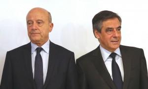 François Fillon et Alain Juppé lors du second tour de la primaire de la droite et du centre, novembre 2016. SIPA. AP21981426_000135