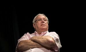 Gérard Filoche lors d'un meeting à Paris, juin 2016. SIPA. 00760033_000016