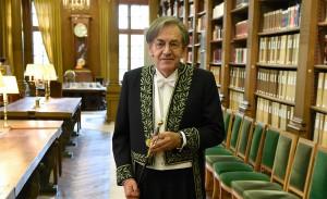 Alain Finkielkraut entre à l'Académie française, janvier 2016. SIPA. 00739943_000004