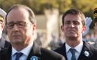 François Hollande et Manuel Valls lors de la commémoration de l'armistice de la Première guerre mondiale, novembre 2016. SIPA. 00780599_000008