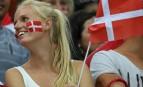 Supportrice danoise aux Jeux olympiques de Rio, août 2016. SIPA. REX40445448_000011