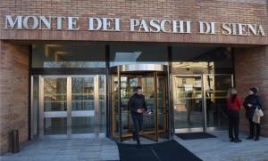 La banque Monte dei Paschi à Sienne, décembre 2016. SIPA. 00785620_000014