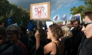 Activistes pro-choix à Paris, octobre 2016. SIPA. 00775084_000001