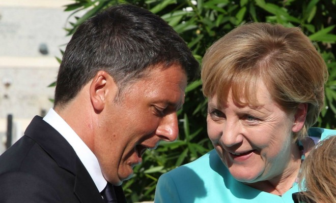 merkel renzi europe tusk migrants