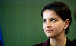 Le ministre de l'Education nationale Najat Vallaud-Belkacem, janvier 2016. SIPA. 00738859_000023