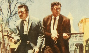 """Kirk Douglas et Burt Lancaster dans """"Réglemente de comptes à O.K. Corral"""", 1957. SIPA. REX43070829_000001"""