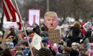 Manifestation anti-Trump le jour de son investiture à Saint-Paul aux Etats-Unis, janvier 2017. SIPA. AP22003491_000003