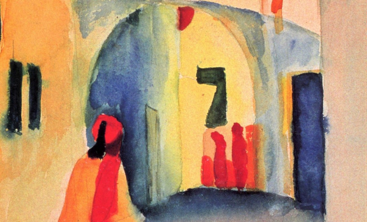 August Macke révolution arabe Tunisie