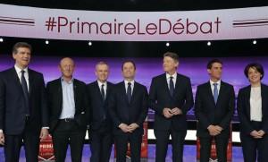 Les candidats à la primaire de la gauche, janvier 2017. SIPA. AP21999195_000002
