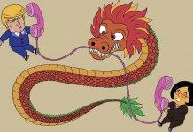 Donald Trump Chine Amérique Rapports de force fermeté