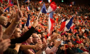 Partisans du Front national à Lyon, novembre 2014. SIPA. 00698998_000024