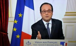 François Hollande adresse ses derniers voeux aux Français, décembre 2016. SIPA. 00786840_000002