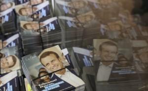 Tracts de campagne d'Emmanuel Macron, janvier 2017. SIPA. AP22001933_000001