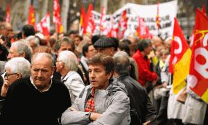 Manifestation contre la réforme des retraites à Toulouse, octobre 2013. SIPA. 00667410_000016