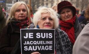 Manifestation place de la Bastille à Paris pour demander la grace de Jacqueline Sauvage, janvier 2016. SIPA. 00739153_000001