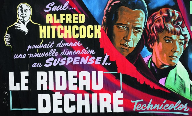 Affiche de cinéma Nathalie Laurent Alfred Hitchcock