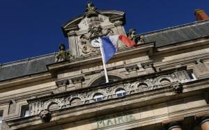 Fronton de la mairie de Nantes, mars 2014. SIPA. 00679846_000004