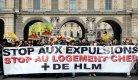 Manifestation organisée par l'association Droit au Logement (DAL), Paris, avril 2013