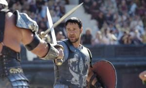 "Russel Crowe dans ""Gladiator"" de Ridley Scott, 2000."