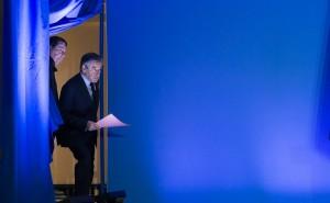 François Fillon entre en scène, Paris, 6 février 2017. SIPA. 00792075_000002