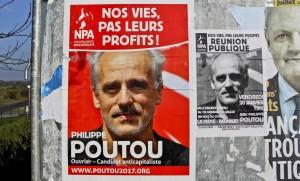 Philippe Poutou NPA Benoït Hamon Jean-Luc Mélenchon François Fillon