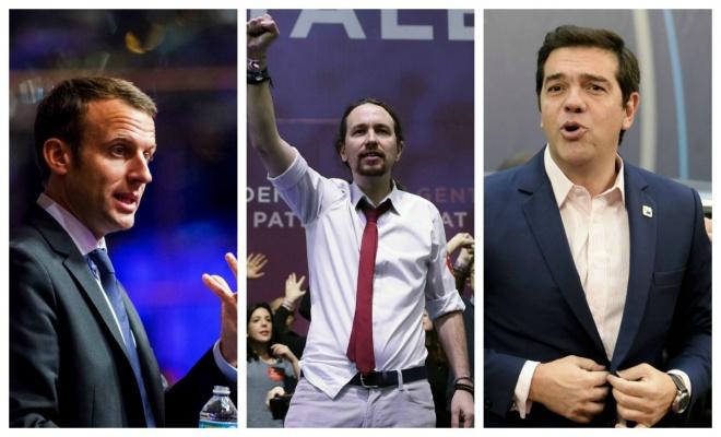 podemos macron tsipras
