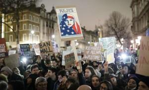 Manifestation anti-Trump à Londres, 30 janvier 2017. SIPA. REX40481985_000004