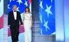 Donald Trump, aux côtés de sa femme Mélania, lors du traditionnel bal d'investiture, 20 janvier 2017.