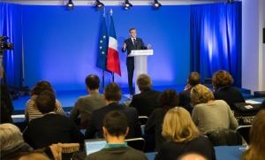 Conférence de presse de François Fillon, février 2017. SIPA. 00792053_000013