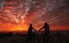 Coucher de soleil à Gaza, janvier 2017. SIPA. 00789770_000001