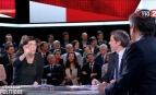 Christine Angot face à François Fillon dans L'Emission politique de David Pujadas sur France 2, 23 mars 2017.
