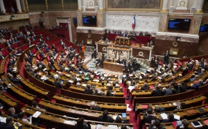 L'hémicycle de l'Assemblée nationale, janvier 2017. SIPA. 00788019_000043