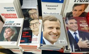 Les livres de certains des candidats à la présidentielle 2017. SIPA. 00795068_000002