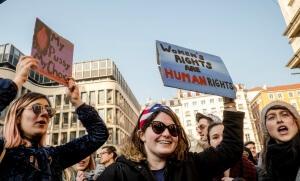 Manifestation féministe à Lyon, janvier 2017. SIPA. 00789773_000011