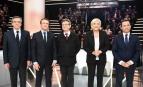 Les cinq candidats à la présidentielle choisis par TF1 pour débattre sur son plateau, lundi 20 mars 2017. SIPA. 00798839_000001