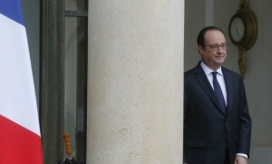 François Hollande sur le perron de l'Elysée, mars 2017. SIPA. AP22024449_000003